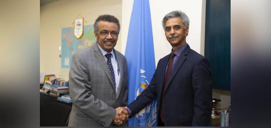 PR/Ambassador Mr. Rajiv K. Chander meets with DG, WHO Dr. Tedros Adhanom Ghebreyesus (Geneva, 7 November 2019)
