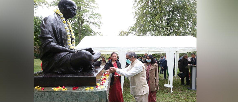 Celebration of the 151st birth anniversary of Mahatma Gandhi in Geneva, 02nd October 2020