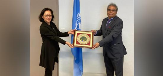 Ambassador Indra Mani Pandey met with Ms Mami Mizutori, Special Representative of the UN Secretary General for Disaster Risk Reduction (UNDRR). [14th October 2020, Geneva]