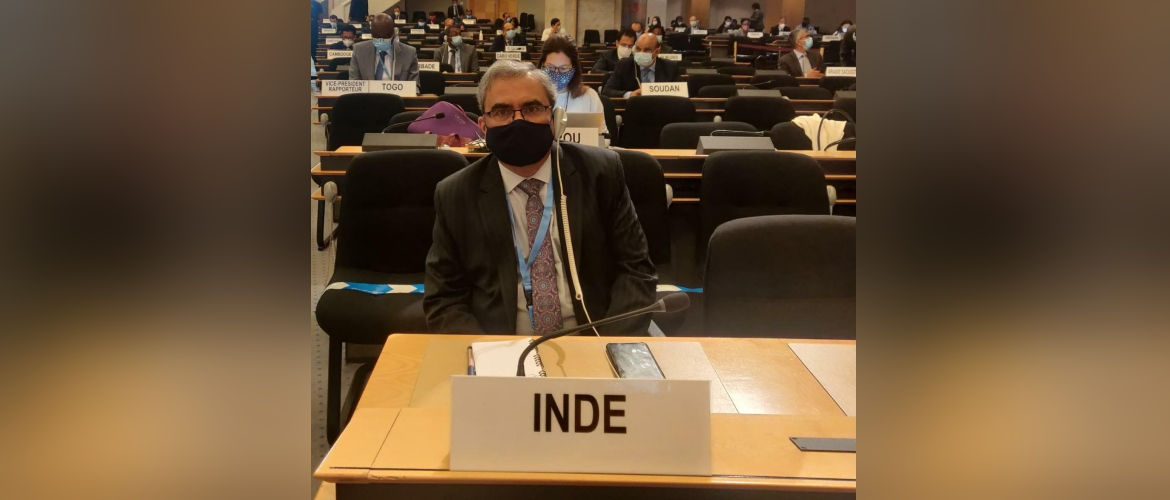 Ambassador Indra Mani Pandey at the opening of the 45th Session of the Human Rights Council in Geneva,14th September 2020