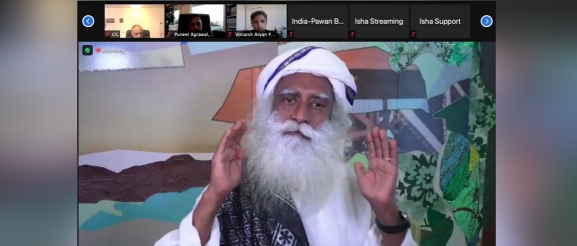 """""""India@75 with Sadhguru : Virtual Presentation on """"Wellness for Well-being for Humanity"""" on 11 June 2021"""""""